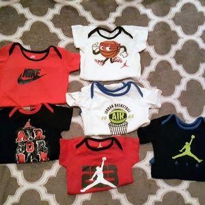 Jordan Onesie 3-6 Months Infant Baby Boy Lot Of 6